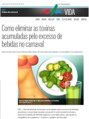 Elimine as toxinas das bebidas do carnaval